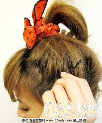 夏季短发发型扎法 图解短发怎么扎简单好看(2)