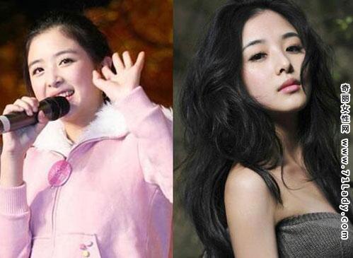 张含韵减肥前后对比照 前后身材胖瘦变化惊人(2)图片